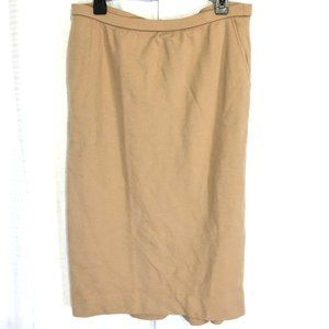 BLEYLE Vintage 100% Wool Pull On Skirt Pockets  16